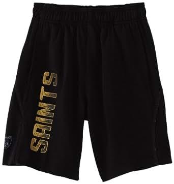 NFL New Orleans Saints 8-20 Boys Performance Short (Black, Small)