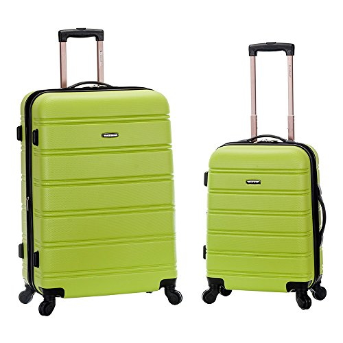Rockland 20 Inch 28 Inch 2PC Expandable ABS Spinner Set, Lime