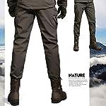 Freiesoldaten-Uomo-Softshell-Vello-Foderato-Impermeabile-Pantaloni-Escursionismo-Sciare-Caldo-Inverno-Allaperto-Pantaloni