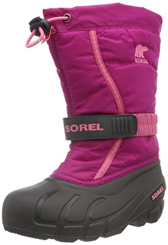 Sorel Youth Flurry-K Snow Boot, Deep Blush/Tropic Pink, 4 M US Big Kid