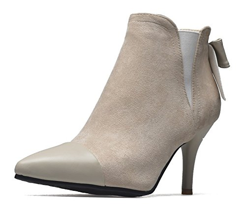 Pointu Femme Noeud Chic Bout Cheville Bottines Aisun Beige CUwH6qnqX