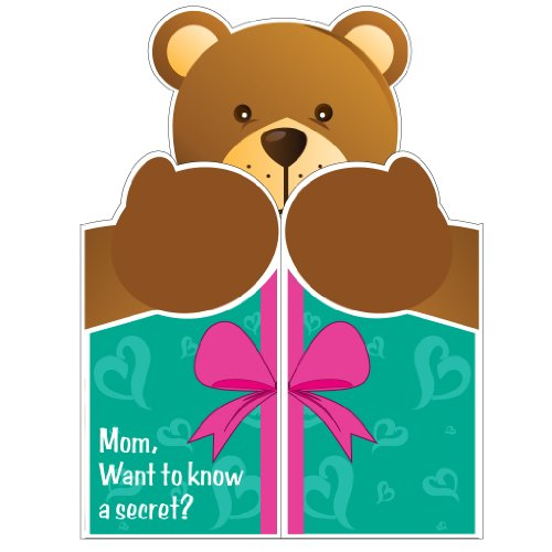 2-x-3-Giant-Mothers-Day-Card-Giant-Shaped-Bear-W-Envelope
