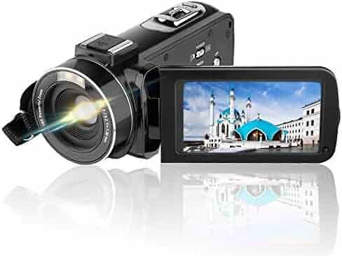 Video Camera Camcorder AiTechny HD 1080P 24.0MP Digital Camera 3.0 inch LCD 270 Degrees Rotatable Screen 16X Digital Zoom Camera Recorder 2 Batteries
