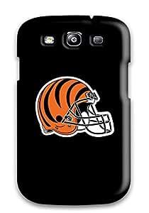 Flexible Tpu Back Case Cover For Galaxy S3 - Cincinnati Bengals Helmet