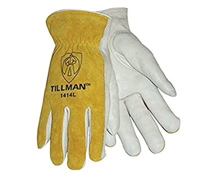 Tillman 1414L 1414 Unlined Cowhide Leather Drivers Glove, Cowhide Leather