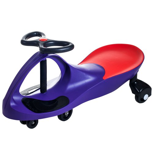 Wiggle Car Ride On Toy – No Batteries, Gears or Pedals – Twist, Swivel, Go – Outdoor Ride Ons for Kids 3 Years and Up by Lil' Rider (Purple)