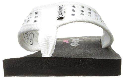 Meditazione strass White Skechers Cali Flop Flip 6qwxOxF