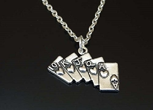 Poker necklace Poker Charm pendant Jewelry Casino Las Vegas necklace Casino