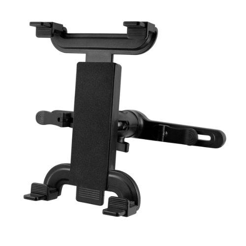 kwmobile Tablet Kopfstützenhalterung für Tablet PC Schwarz - Auto KFZ Kopfstütze Tablethalterung - z.B. geeignet für Apple, Samsung, Lenovo, Asus, Huawei, Amazon, Acer, Microsoft, Sony, LG