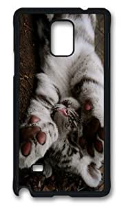 MOKSHOP Personalized Playful Tiger Cub Hard Case Protective Shell Cell Phone Cover For Samsung Galaxy Note 4 - PCB