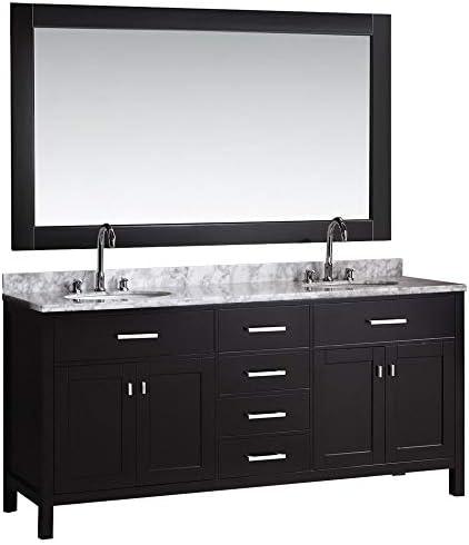 Luca Kitchen Bath LC72CEW Geneva 72″ Double Vanity Set
