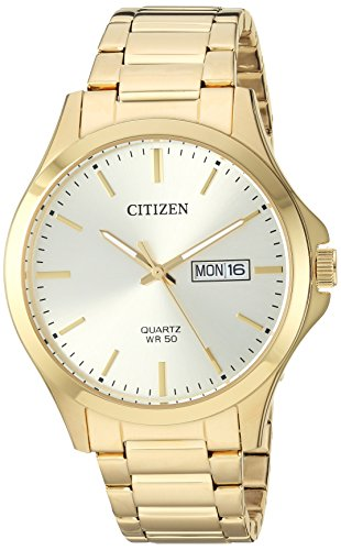 Citizen Men's Quartz Stainless-Steel Strap, Gold, 19.3 Casual Watch (Model: BF2003-84P) - Gold Stainless Steel Strap