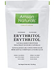 Erythritol Powdered Sweetener 1 lb / 454 g / 16 oz - Confectioners, Natural Source Sugar Substitute, No Calorie Sweetener, Non-GMO, Gluten free.