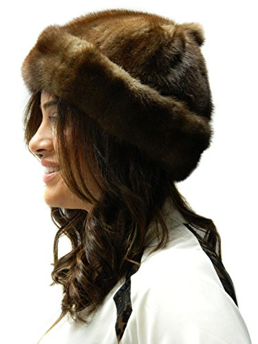 Whiskey Mink Skully Beanie- Unisex 2XL by FursNewYork