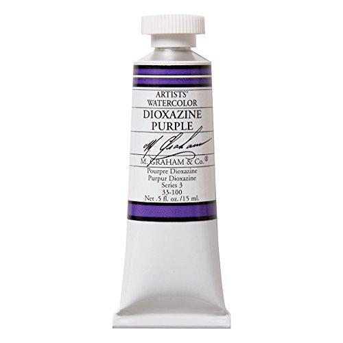 M. Graham 1/2-Ounce Tube Watercolor Paint, Dioxazine Purple