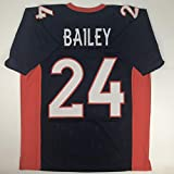 Unsigned Champ Bailey Denver Blue Custom Stitched Football Jersey Size Men's XL New No Brands/Logos