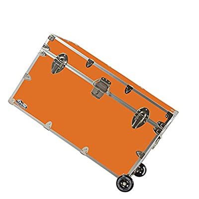 College Dorm Room & Summer Camp Lockable Trunk Footlocker with Wheels - Graduate Trunk by C&N Footlockers - Available in 20 colors - Extra-Large: 32 x 18 x 18.5 Inches