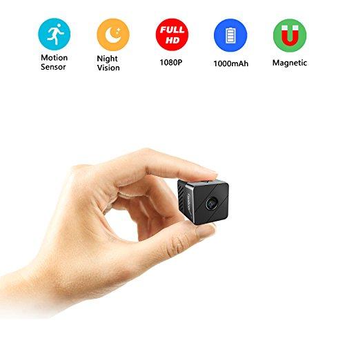 Mini Surveillance Camera,Conbrov T33 1080P HD Portable Video