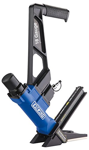 Estwing EF18GLCN - 18 Gauge L-Cleat Pneumatic Flooring Nailer Ergonomic & Lightweight Nail Gun with No-Mar Baseplates for Tongue & Groove, Hardwood, Bamboo & Engineered Flooring