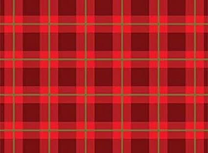 cozy cabin red christmas plaid fabric by red rooster - Christmas Plaid Fabric