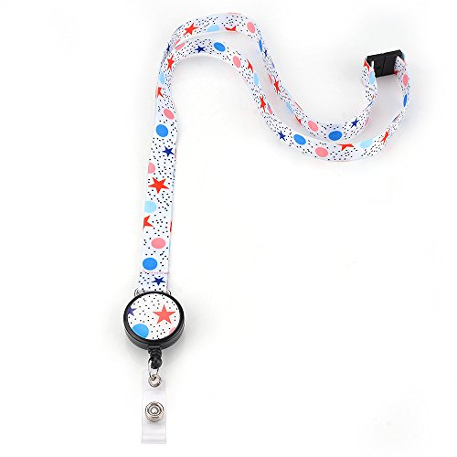 Grekywin Fresh Lanyard Keychain, ID Badge Holder, Card Holder for Business Id/key/cell Phone