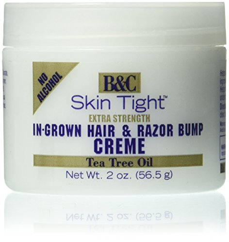 B&C Skin Tight In-Grown Hair and Razor Bump Creme Extra Strength, 2 Ounce (Best Ointment For Razor Bumps)