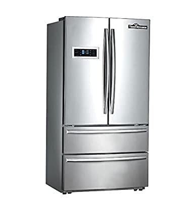 "Thorkitchen HRF3601F Cabinet Depth French Door Refrigerator, Ice Maker, 36"", Stainless Steel"