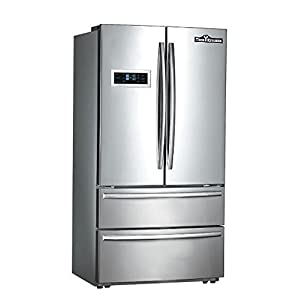 """Thorkitchen HRF3601F Cabinet Depth French Door Refrigerator, Ice Maker, 36"""", Stainless Steel"""