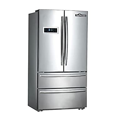 Thorkitchen HRF3601F Cabinet Depth French Door Refrigerator, Ice Maker, 36, Stainless Steel