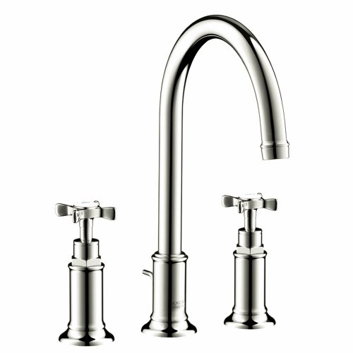 AXOR AXOR Montreux  Classic 2-Handle  11-inch Tall Bathroom Sink Faucet in Polished Nickel, 16513831