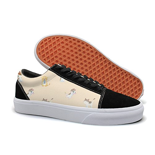 HMAG Boys Skate Shoes Jogging Shoes Cat Fish Lightweight Sneaker For Casual Outfits