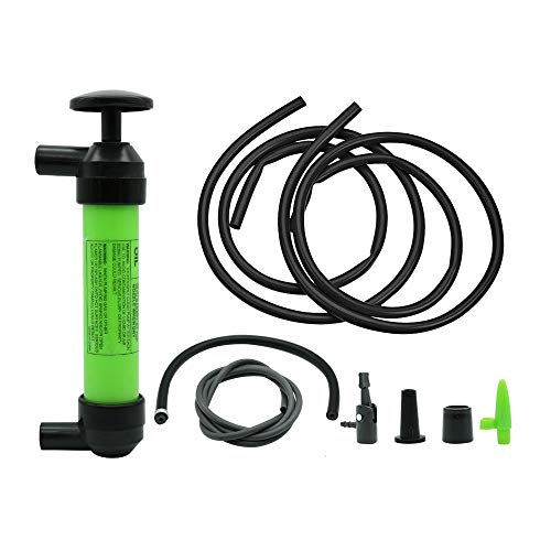 SWANLAKE Multi-Use Siphon Fuel Transfer Pump Kit for Gas Oil and Liquids ()