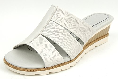 Marco Tozzi Ladies Slip On Wedge Offwhite Leather Gel Insole Off-White cD1afRBl