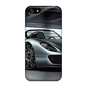 High Impact Dirt/shock Proof Case Cover For Iphone 5/5s (2011 Porsche 918 Spyder)
