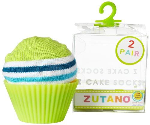 (Zutano Baby Boys' Newborn Two Pack Anklet Socks, Navy Combo, 0-12 Months)