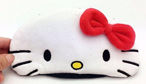 Hello Kitty Eye Mask - CJB Lovely Hello Kitty Eye Mask for Sleeping Travel Games KT 3D Red Ribbon (US Seller)