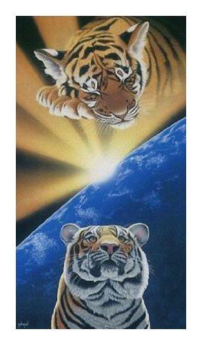 Toalla, playa, toalla de mano – Tiger – diseño: – 100% algodón