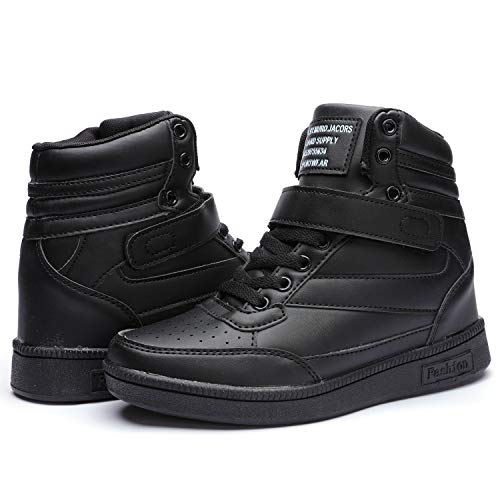 - Catata Women's Hidden Wedegs Fashion Sneakers High Top Sports Shoes Ankle Shoes Black