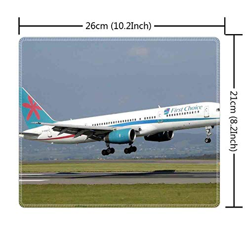 (Mouse Pad Rectangle Mouse Pad Airplane Takeoff B757 Aircraft Aviation Commercial #545316 Durable 800mm300mm3mm)