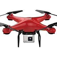 Fiaya L500 720P WiFi FPV Wide 0.3MP HD Camera 2.4GHz 6 Axis RC Quadcopter Selfie Drone (Red)
