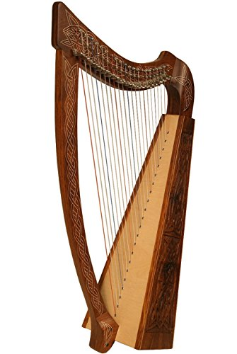 Heather Harp TM, 22 Strings, Knotwork by Mid-East