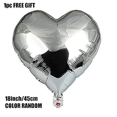 Zhiheng (Pack of 2) Silver Jumbo Butterfly Helium Foil Balloons for Wedding Birthday Anniversary Graduation Party Decoration: Toys & Games
