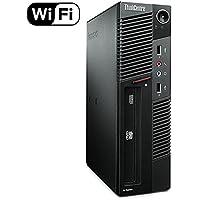 Lenovo ThinkCentre M91p Small Form Business Desktop Computer PC (Intel i5-2400, 8GB Ram, 240GB Brand New Solid State, Wireless WIFI) Windows 10 Professional (Certified Refurbishd)