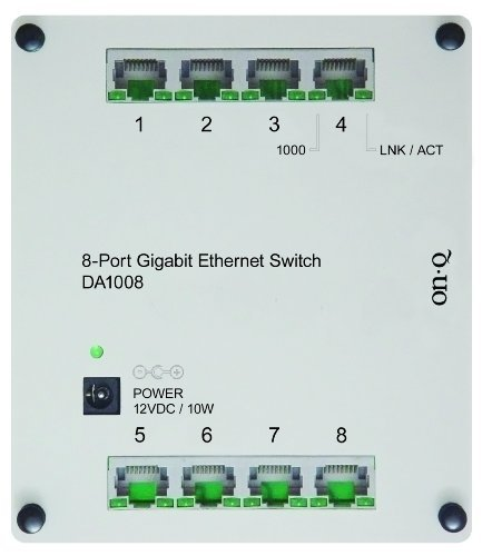 On-Q / Legrand DA1008 8-Port Gigabit Switch by On-Q [並行輸入品] B00VU64PR2