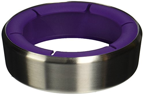 - Vacu Vin Wine Bottle Coaster/Surface Protector - Stainless Steel/White/Purple