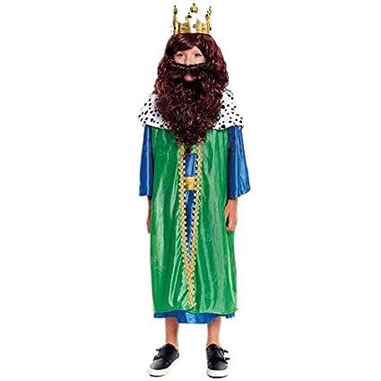 Disfraz Rey Mago Gaspar niño infantil para Navidad 4-6 años