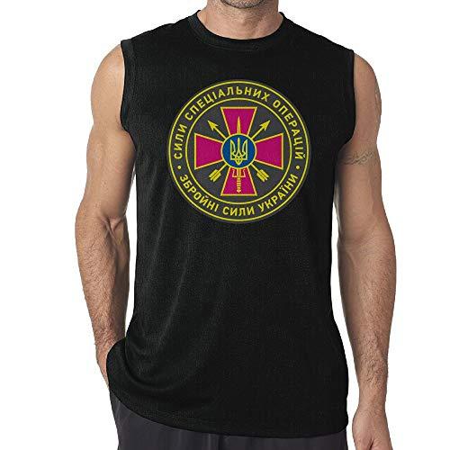 Emblem Ringer T-shirt - SHENQINGWENEN Men's Emblem of The Special Operations Forces of Ukraine Yoga Tank Top T-Shirt Muscle Tank Top Shirt