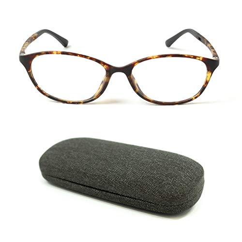 MIDI High Quality Blue Light Blocking Reading Glasses for Women (M-112) with a Hard Shell Eyeglass Case / TR90 Frame (Tortoise Brown,+1.00)(m112c3-100)