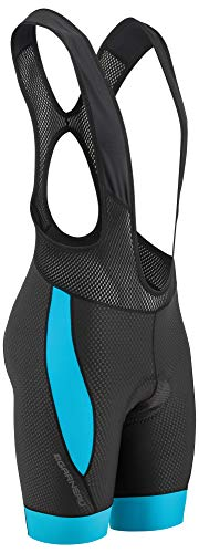 Louis Garneau Men's CB Carbon 2 Padded, Sleeveless Cycling Bib Shorts, Black/Blue, Large