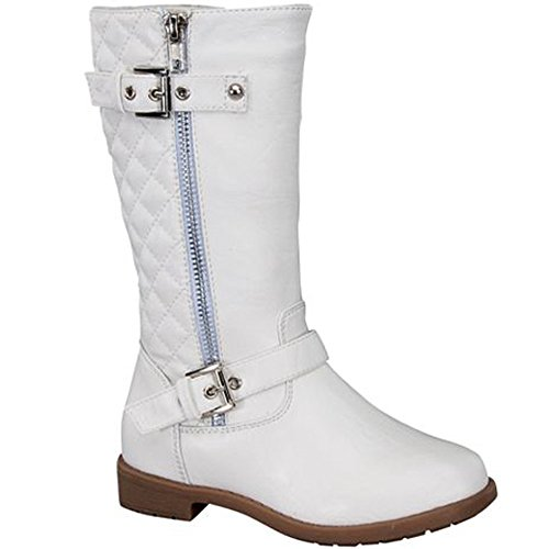 Lucky Top Girls Pack-95K Riding Zipper Boots White,White,3